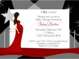 Hollywood Baby Shower Invitations Hollywood Mommy to Be Baby Shower Invitations