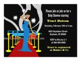 Hollywood Baby Shower Invitations Red Carpet Hollywood Baby Shower Invitation Boy