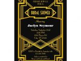 Hollywood Bridal Shower Invitations 1920s Hollywood Style Bridal Shower Invitation Zazzle