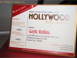 Hollywood Bridal Shower Invitations Hollywood themed Baby Shower Invitation Star by