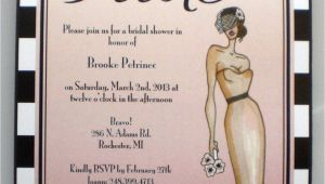 Hollywood Bridal Shower Invitations Items Similar to Old Hollywood Pink Bridal Shower