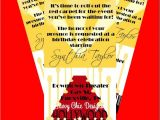 Hollywood Party Invites Printable Hollywood Ticket Style Birthday Invitation Diy Printable