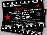 Hollywood Party Invites Printable Items Similar to Hollywood Invitation Printable Movie