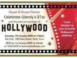 Hollywood theme Party Invites 40th Birthday Ideas Hollywood Birthday Invitation