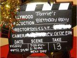 Hollywood theme Party Invites Hollywood Clapboard Birthday Invitation Design Dazzle