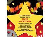 Hollywood theme Party Invites Hollywood Invitation Custom Invitations Party Supplies