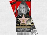 Hollywood theme Party Invites Hollywood Ticket Invitations Red Carpet Party Bonus by