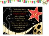 Hollywood themed Birthday Party Invitations 40th Birthday Ideas Hollywood Birthday Invitation