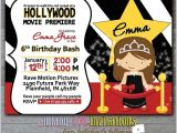 Hollywood themed Birthday Party Invitations Hollywood Birthday Party Invitations Cimvitation