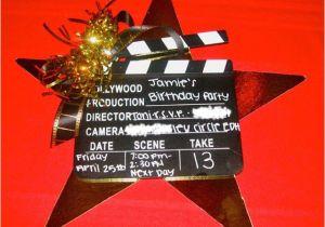 Hollywood themed Birthday Party Invitations Hollywood Clapboard Birthday Invitation Design Dazzle
