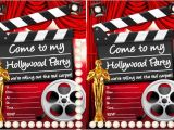 Hollywood themed Birthday Party Invitations Hollywood Party Ideas Goodtoknow