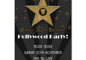 Hollywood themed Birthday Party Invitations Hollywood Party Invitation the Invitation Boutique