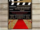 Hollywood themed Birthday Party Invitations Movie Party Invitation Hollywood Movie Birthday Party
