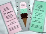 Homemade 1st Birthday Invitation Ideas Homemade Ice Cream Birthday Invitations