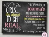 Homemade Bachelorette Party Invitations Bachelorette Party Invitation Printable Chalkboard
