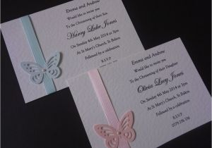 Homemade Baptism Invitations Christening Invitations Handmade Google Search