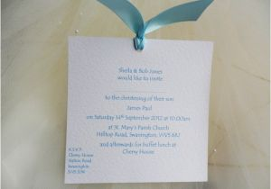 Homemade Baptism Invitations Handmade Chantilly Christening Invitations and Baptism