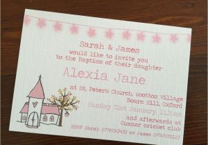 Homemade Baptism Invitations Handmade Christening Baptism Invitations Personalised New