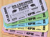 Homemade Graduation Party Invitations Ideas Graduation Party Invitations Vintage Ticket Style Diy