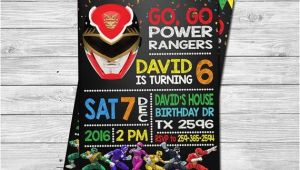 Homemade Power Ranger Birthday Invitations 17 Best Ideas About Power Ranger Birthday On Pinterest