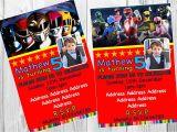 Homemade Power Ranger Birthday Invitations Old Fashioned Power Rangers Birthday Invitations Image