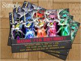 Homemade Power Ranger Birthday Invitations Power Rangers Dino Charge Chalk Birthday by