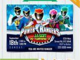 Homemade Power Ranger Birthday Invitations Power Rangers Invitation Power Rangers Dino Charge by