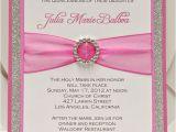 Homemade Quinceanera Invitations Custom Handmade Pink Silver Glitter Sweet Sixteen 16