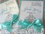 Homemade Quinceanera Invitations Sweet Sixteen Teal and Silver Glitter Custom Handmade