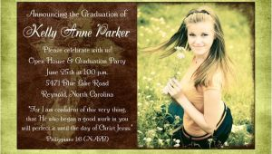 Homeschool Graduation Invitations Photo Christian Graduation Announcement Homeschool Cross