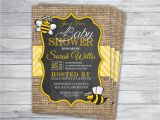 Honey Bee Bridal Shower Invitations Bee Honey Bumble Any event Baby Shower Invitations Printed