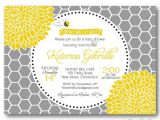 Honey Bee Bridal Shower Invitations Honey Bee Invitation Baby or Bridal Shower Sip by