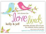 Honeymoon Bridal Shower Invitation Wording Love Birds Bridal Shower Invitations Shower Ideas