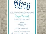 Honeymoon themed Bridal Shower Invitations Mr and Mrs Flip Flops Honeymoon Travel theme Wedding Shower