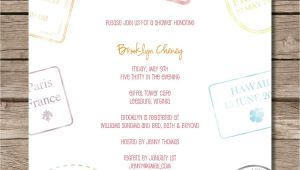 Honeymoon themed Bridal Shower Invitations Passport Stamp Bridal Shower Invitation Perfect for