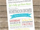 Honeymoon themed Bridal Shower Invitations Printable Honeymoon Shower Party Invitations 5×7 Typography