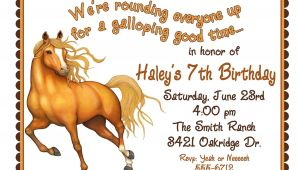 Horse Birthday Invitation Template Personalized Birthday Invitations Horse by Littlebeaneboutique