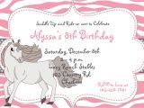 Horse Party Invitations Free Printable Free Printable Horse Birthday Party Invitations
