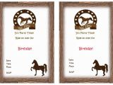Horse Party Invitations Free Printable Horse Birthday Invitations Birthday Printable