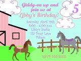 Horse Party Invitations Free Printable Printable Pony Party Invitation