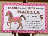 Horse themed Party Invitations Horse Birthday Invitations Best Party Ideas