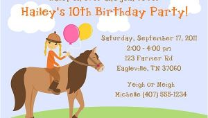Horseback Riding Birthday Party Invitations Horseback Riding Birthday Party Invitations Horse Pony