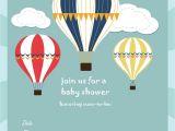 Hot Air Balloon Birthday Invitation Template Free Printable Baby Shower Invitations Baby Shower Ideas