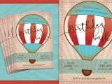 Hot Air Balloon Birthday Invitation Template Hot Air Balloon Birthday Invite Invitation Templates