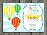 Hot Air Balloon Birthday Invitation Template Printable Hot Air Balloon Birthday Invitation Free Thank