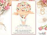 Hot Air Balloon Bridal Shower Invitations Hot Air Balloon Bridal Baby Shower Invitation Watercolor