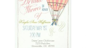 Hot Air Balloon Bridal Shower Invitations Hot Air Balloon Bridal Shower Invitation Card