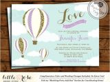 Hot Air Balloon Bridal Shower Invitations Hot Air Balloon Bridal Shower Invitation Love is In the