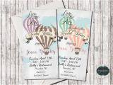 Hot Air Balloon Bridal Shower Invitations Hot Air Balloon Invitation Wedding Shower by