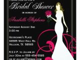 Hot Pink and Black Bridal Shower Invitations Black and Hot Pink Bridal Shower Invitation